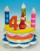 Fødselsdagslagkage med musik